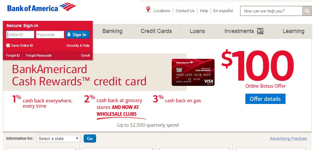 Bank Of America Travel Rewards Visa Car Insurance